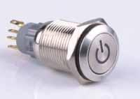Metalltaster mit LED