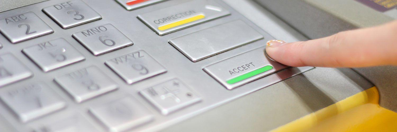 Tastatur für Bankautomaten