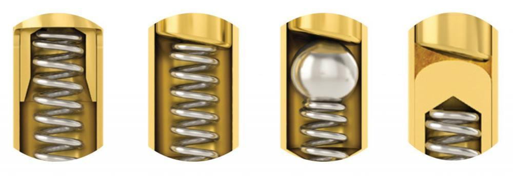 Design Varianten von Federkontakten