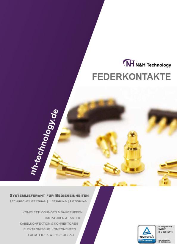 Federkontakte, Batterieladekontakte, Steckverbinder Katalog