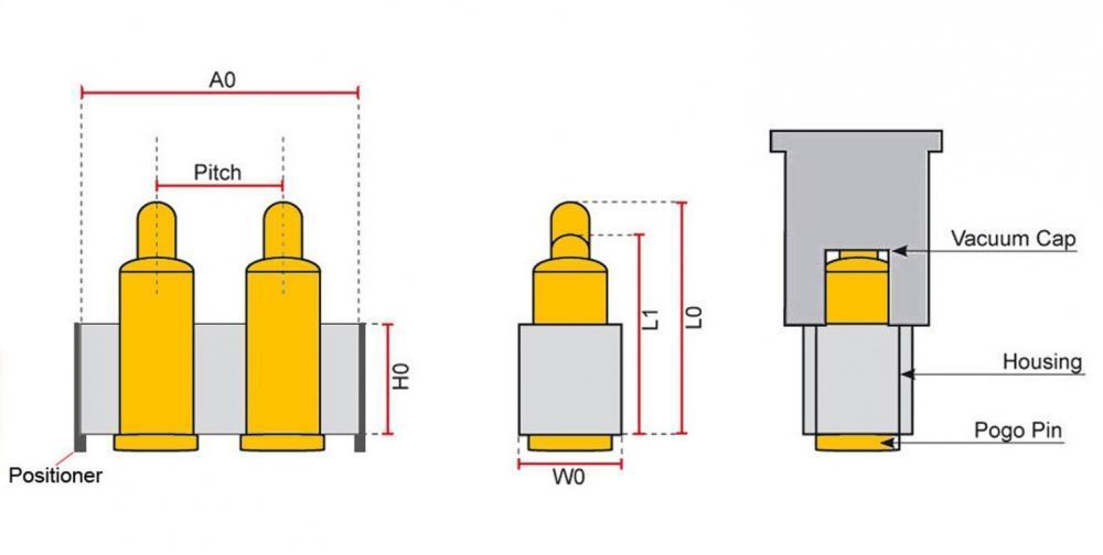 Federkontakt Stecker Pogo Pin Flat Type