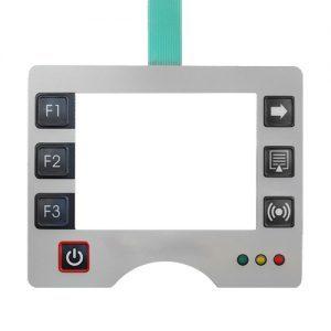 Folientastatur für ein Touch Panel mit Sichtfenster