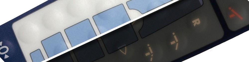 Folientastatur mit Light Guid Film Verschwindeeffekt