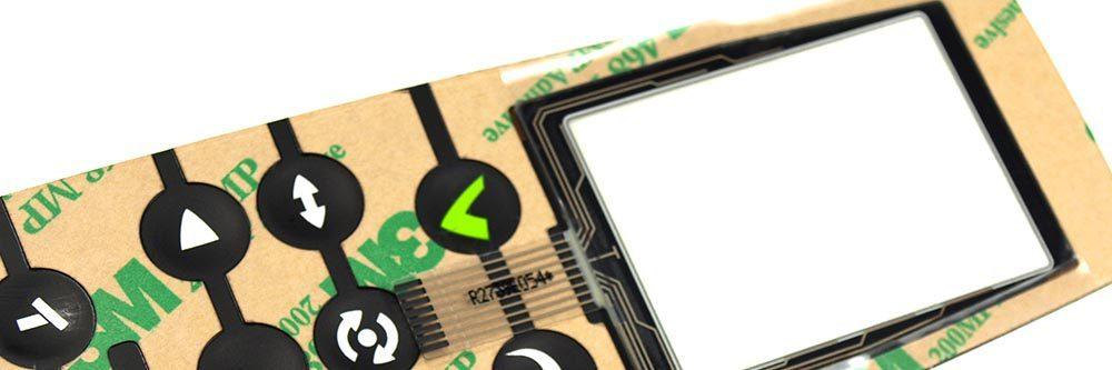 Folientastatur mit integriertem Touch Panel