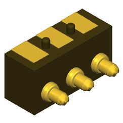 Federkontakt Stecker 3 Pin SVPC-R-H003M3-H03BRR