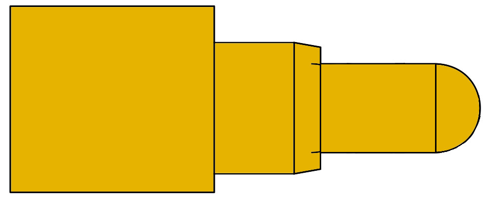 Right Angle Federkontakt Pogo Pin SVPC-R-H036M0