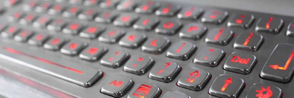 Vandalensichere Tastatur aus Edelstahl mit Hinterleuchtung