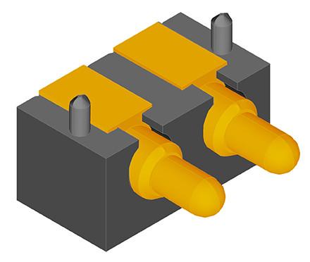 Federkontakt Stecker 2 Pin SVPC-R-H036M0-H02CRR