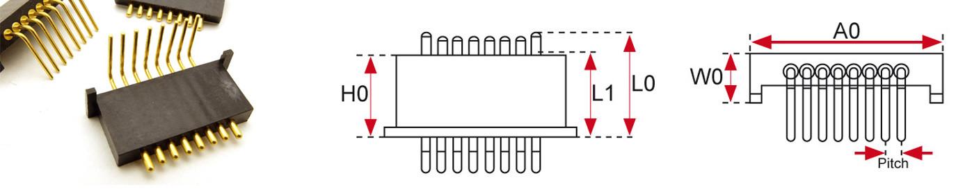 Bending Type Pogo Pin Connectors