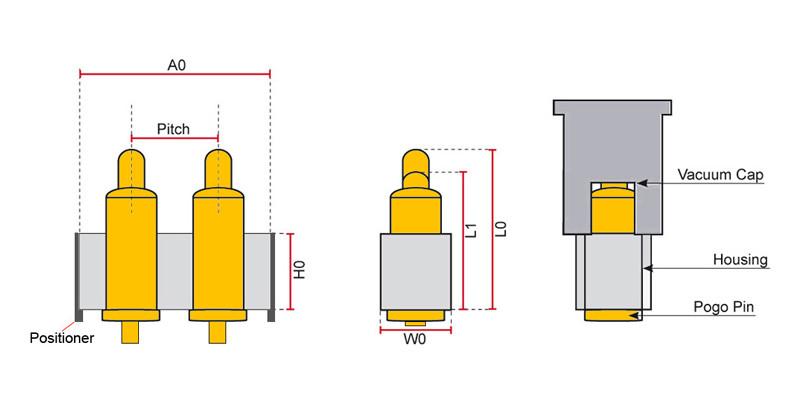 Federkontakt Stecker Pogo Pin Plug In Type