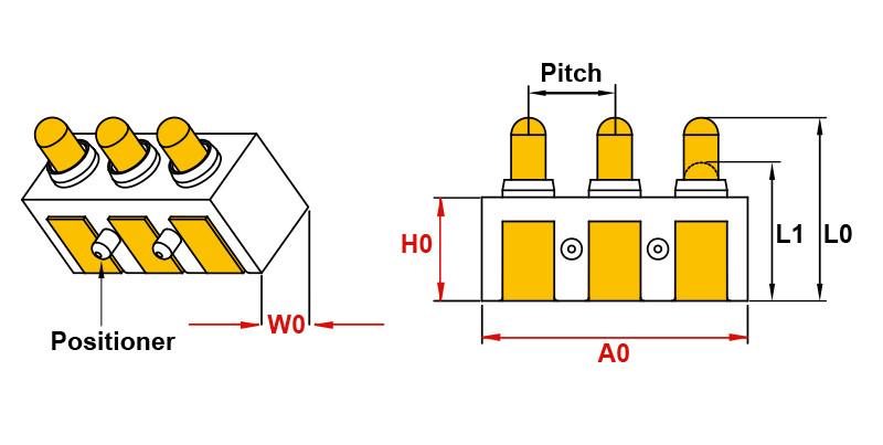 Federkontakt Pogo Pin Right Angle Type